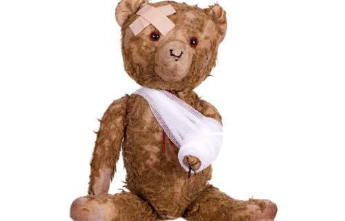 Poorly teddy bear